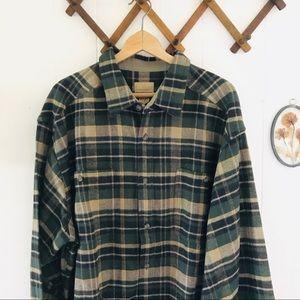 Thick Flannel Plaid Button Shirt